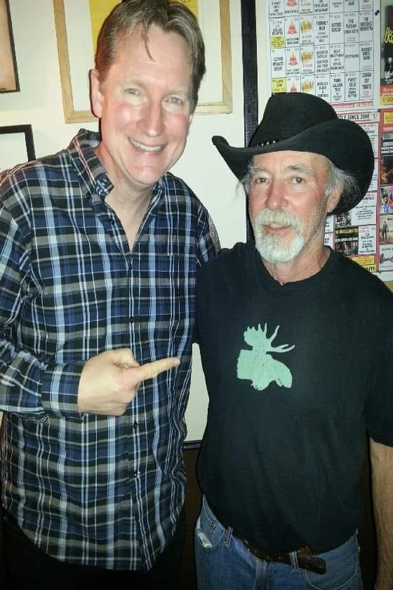 Dave with The Moonshine Cafe Owner John Marlatt